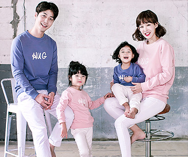 "<font color=""ffffff"">[Family Man to man & unisex] <br></font> Cat Hug Man to man family long sleeve_17C04"