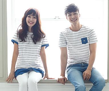 Kids Blue Couples short T-shirts_16B05