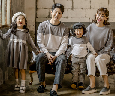 "<font color=""ffffff"">[Family long sleeve tea & family look] <br></font> Brushed Blanc di family long sleeve_17D02"