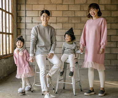 "<font color=""ffffff"">[Family long sleeve tea & family look] <br></font> Brushed Sasha Princess family long sleeve_17D15"