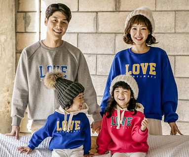 "<font color=""ffffff"">[Family long sleeve tea & family look] <br></font> Brushed Love Montpel One-man family long sleeve_17D17"