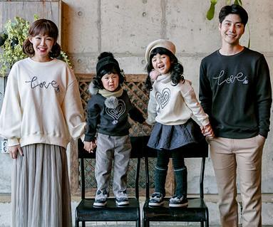 "<font color=""ffffff"">[Family long sleeve tee & family look] <br></font> Brushed logo Tassel family long sleeve_17D14"