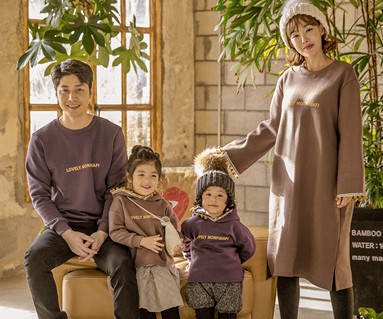 "<font color=""ffffff"">[Family long sleeve tee & family look] <br></font> Brushed Lovely Monty family long sleeve_17D04"