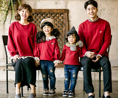 "<font color=""ffffff"">[Family long sleeve tea & family look] <br></font> Brushed Luna Lace family long sleeve_17D13"