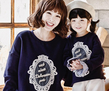 Brushed Royal Dandy Mom and baby long sleeve_16D03