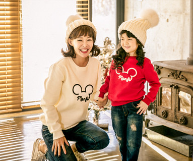 Brushed Montpelier mother and baby long sleeve_17D07