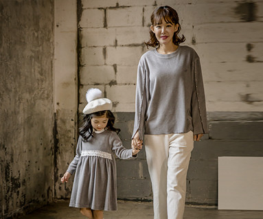 "<font color=""ffffff"">[Family long sleeve tea & family look] <br></font> Brushed Blanc di Mom and baby long sleeve_17D02"