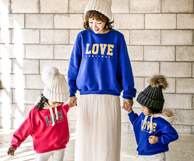 "<font color=""ffffff"">[Family long sleeve tea & family look] <br></font> Brushed Love Montpel One-man mom and baby long sleeve_17D17"