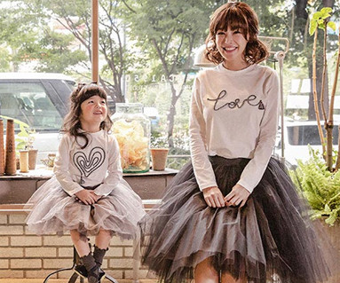 Love Logo Tester Mother and Baby long sleeve_16C10