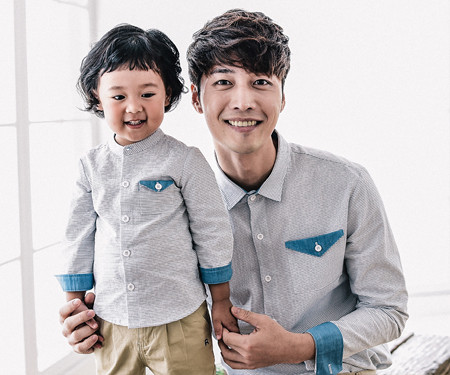 Morning daddy and baby in the Caribbean long sleeve_16C03