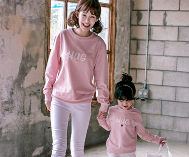 Cats Hug Man to man Mom and baby long sleeve_17C04
