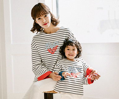 Roller Heart Mother and Baby long sleeve_17C05