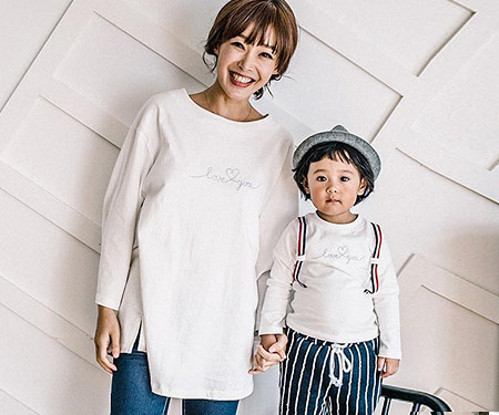 Love suspenders point mom and baby long sleeve_16C08