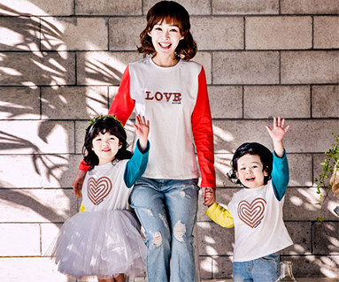 unbalance mom and baby long sleeve_17A03