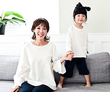 Lounge tester mother and baby long sleeve_16C11