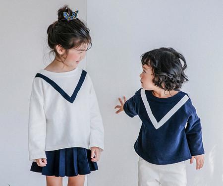 Modern V baby long sleeve_17C10