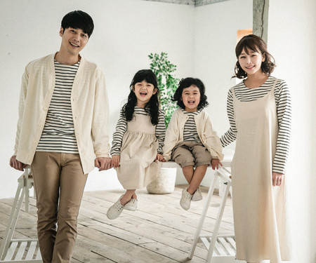 "<font color=""ffffff"">[Family long sleeve tea & family look] <br></font> Pure Simplicity dress family long sleeve_18A03"