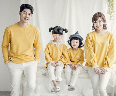 "<font color=""ffffff"">[Family long sleeve tea & family look] <br></font> Luna Lace family long sleeve_18A05"