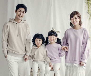 "<font color=""ffffff"">[Family long sleeve tee & family look] <br></font> Mary frill family long sleeve_18A01"