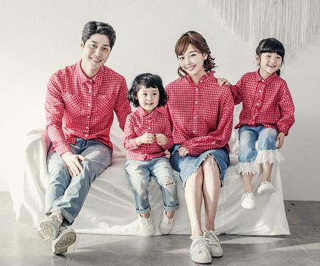 "<font color=""ffffff"">[Family long sleeve tea & family look] <br></font> Tommy shirt family long sleeve_18A02"