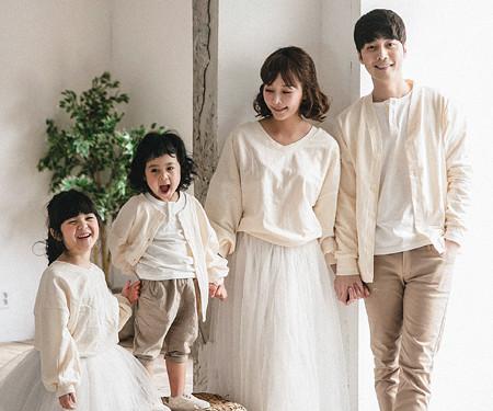 "<font color=""ffffff"">[Family long sleeve tea & family look] <br></font> Magic cardigan family long sleeve_18A07"