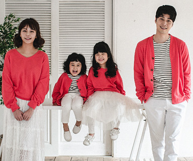 "<font color=""ffffff"">[Family long sleeve tea & family look] <br></font> Magic cardigan family long sleeve_18A08"