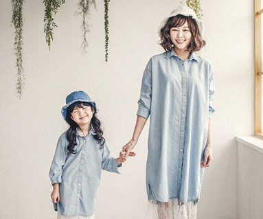 "<font color=""ffffff"">[Family long sleeve tea & family look] <br></font> Merdie Cheung South mother and baby long sleeve_18A04WK"