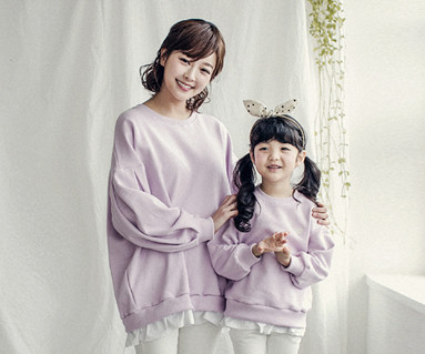 "<font color=""ffffff"">[Family long sleeve tea & family look] <br></font> Mary Frill mom and baby long sleeve_18A01WK"