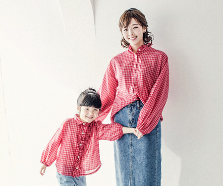 """<font color=""""ffffff"""">[Family long sleeve tea & family look] <br></font> Tommy shirt mom and baby long sleeve_18A02WK"""