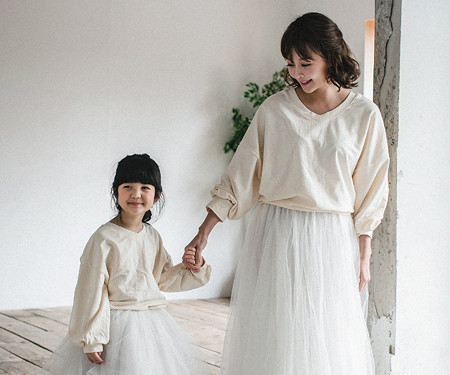 "<font color=""ffffff"">[Family long sleeve tea & family look] <br></font> Magic cardigan Mother and baby long sleeve_18A07WK"