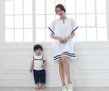Sailor family Mom and baby short T-shirts_15B16