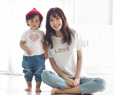Stitch Round Mom and Baby short T-shirts_16B01WK