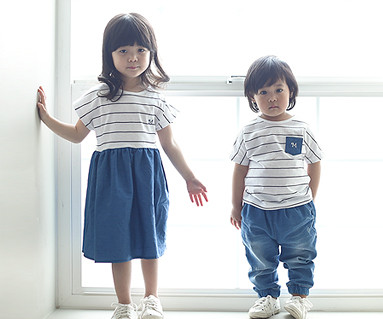 Baby blue baby short T-shirts_16B05K