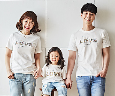 "<font color=""ffffff"">[Family long-sleeved tee & family look] <br></font> Natural Love family short T-shirts_18B02"
