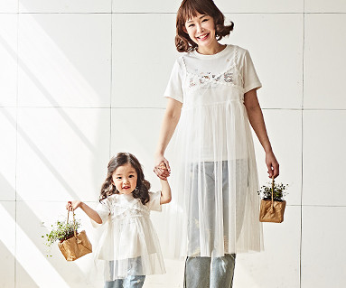 "<font color=""ffffff"">[Family Long Sleeve Tee & Family Look] <br></font> Busty mother and baby dress_18B08 <font color=""red""><b>[April 24 sequential release]</b></font>"
