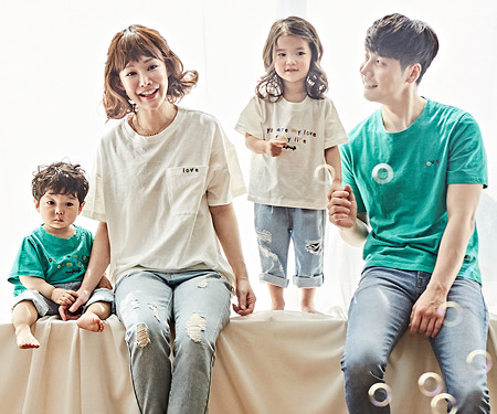 "<font color=""ffffff"">[Family long-sleeved tee & family look] <br></font> Bingo tee family short T-shirts_18B03"