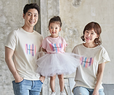 "<font color=""ffffff"">[Family long-sleeved tee & family look] <br></font> Paint family short T-shirts_18B06"