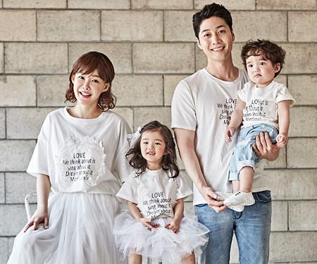 "<font color=""ffffff"">[Family long-sleeved tee & family look] <br></font> Lorosa family short T-shirts_18B09"