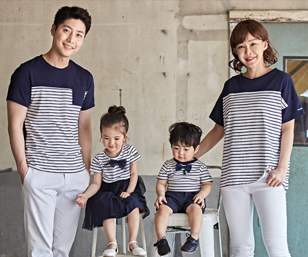 "<font color=""ffffff"">[Family long-sleeved tee & family look] <br></font> Chloe family short T-shirts_18B12"