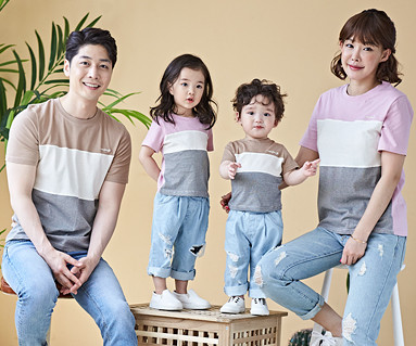 "<font color=""ffffff"">[Family long-sleeved tee & family look] <br></font> Spencer family short T-shirts_18B14"