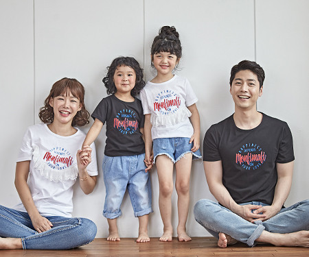 "<font color=""ffffff"">[Family long-sleeved tee & family look] <br></font> Sherbet family short T-shirts_18B23 <font color=""red""><b> </b></font>"