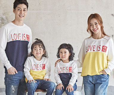 "<font color=""ffffff"">[Family long sleeve tea & family look] <br></font> Love to Man to man family long sleeve_18C05"