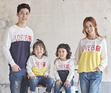 "<font color=""ffffff"">[Family long sleeve tee & family look] <br></font> Love Is Man to man family long sleeve_18C05"