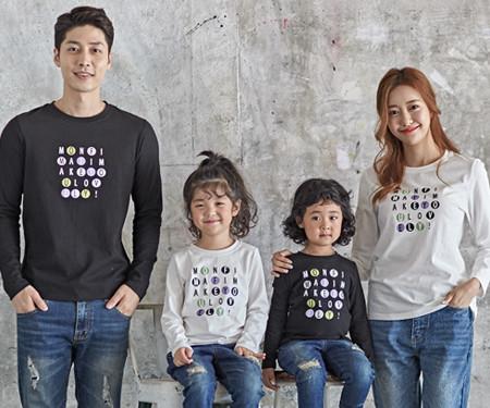 "<font color=""ffffff"">[Family long sleeve tea & family look] <br></font> Ping Pong family long sleeve_18C01"