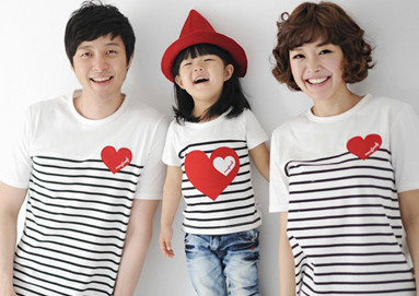 My love round family short T-shirts_17B26