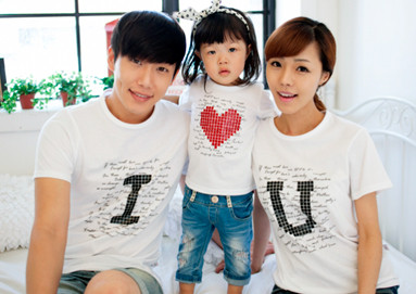 "<font color=""ffffff"">[Family Long Sleeve Tee & Family Look] <br></font> IU short T-shirts <font color=""red""><b> </b></font>"