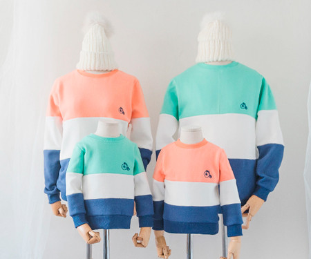 """<font color=""""ffffff"""">[Family One-man & Unisex] <br></font> family Brushed Trinity long sleeve 18D02F / family Look, family tea"""