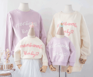 "<font color=""ffffff"">[Family One-to-One & Unisex] <br></font> family Brushed macaron long sleeve 18D05F / family"