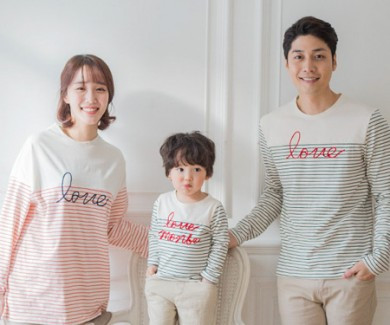 "<font color=""ffffff"">[Family long sleeve tee & family look] <br></font> family cantabile long sleeve 19A05 / family"