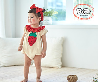 "<font color=""ffffff"">[Family Short Sleeve Tee & Family Look] <br></font> Strawberry suit 19S134 / Kids wear, kids clothes, kids look"